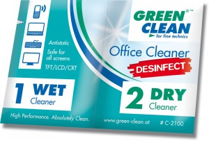 Green Clean GCC-2100-10 Ściereczki Office Cleaner Desinfect 10 kpl.
